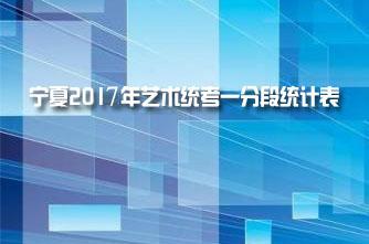 【宁夏】宁夏2017年艺术统考一分段统计表